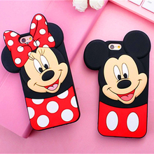 Buy New 3D Cute Mickey Minnie Mouse Cartoon Soft Silicone Phone Case iPhone 7 7Plus 4 4S 5 5 5S SE 6 6S 6Plus 7 7Plus Back Cover for $3.15 in AliExpress store