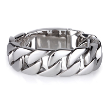 Shiny Glossy 316L Stainless Steel Mens Bracelets Rock Punk 20MM Wide Link Chain Bangles Jewelry Accessories Bracelet Men(China (Mainland))