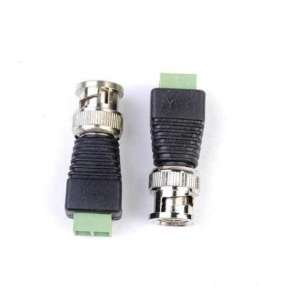 Alicolu 2pcs Coax CAT5 BNC Video Balun Connector for Security Camera System(China (Mainland))