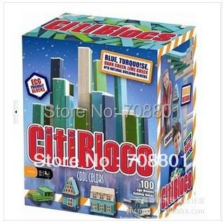 Citiblocks 100 Pcs Natural Building Magic Wooden Blocks Toy, Assemble Wooden Bricks Toy(China (Mainland))