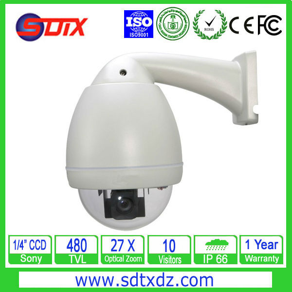 1/4 Sony CCD 480TVL Waterproof Camera  H.264 Compression Speed Dome IP Camera