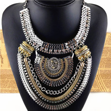 Big Fashion Exaggerated Style Charm Women s Metal statement Necklaces Pendants Party Evening Dress Jewelry Free