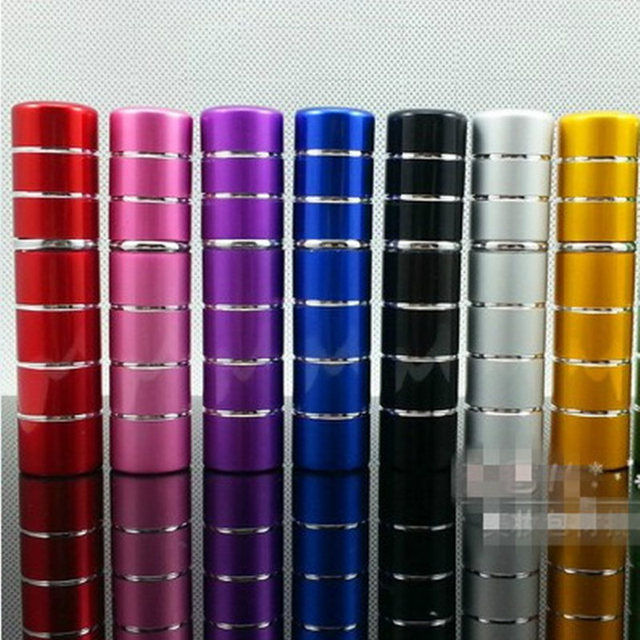 50pc/lot 5ml Pump Refillable Atomizer eau de Parfum Aluminum Empty Cosmetic Containers Glass Perfume Bottle Spray Scent Bottle