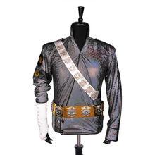 Classic MJ Michael Jackson BAD Jam Laser Jacket Belt Set Performance