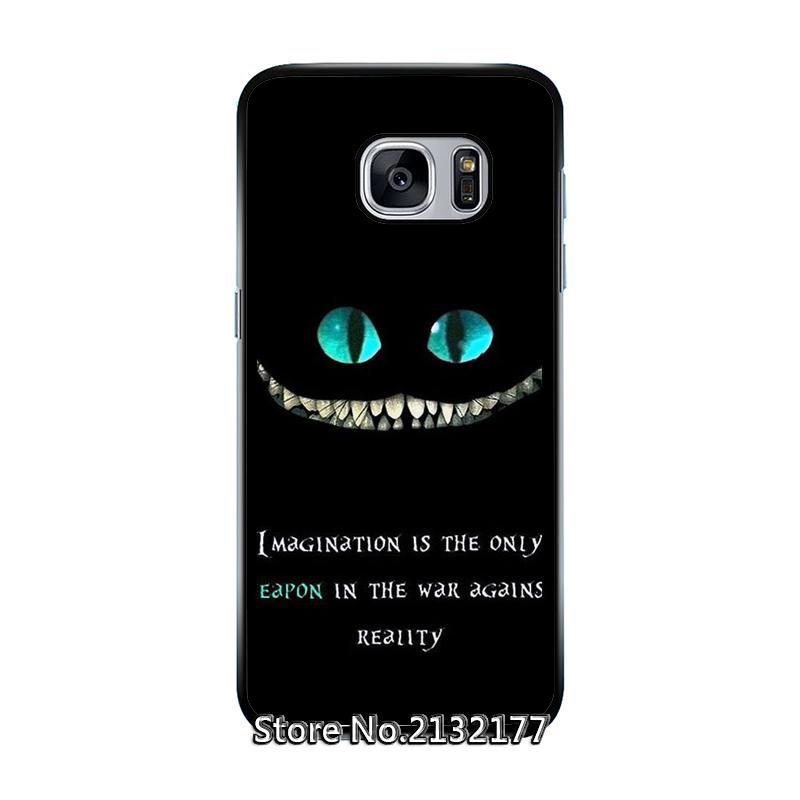 Cheshire Cat Alice Rubber Cover case for Samsung S6 S7 edge plus S3 S4 S5 mini active note 2 3 4 5 edge Silicon(China (Mainland))