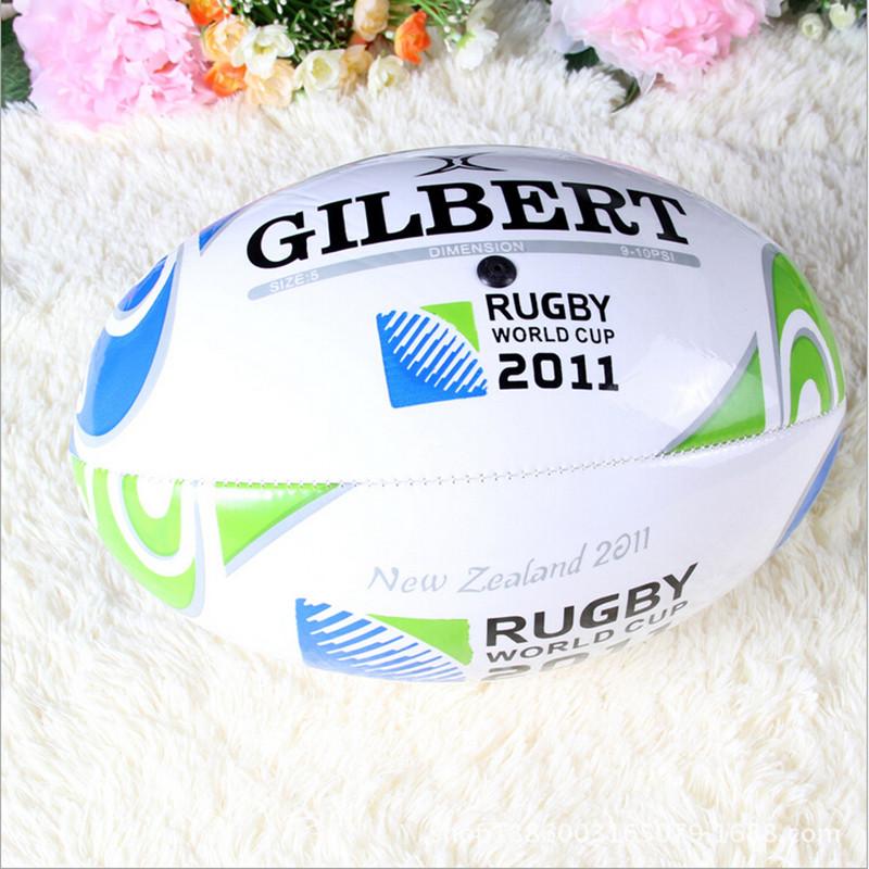 3 Colors Quality PU Traditional Milk White Style English Football Ball Rugby Size 9 British Training Ball Machine Sewing(China (Mainland))