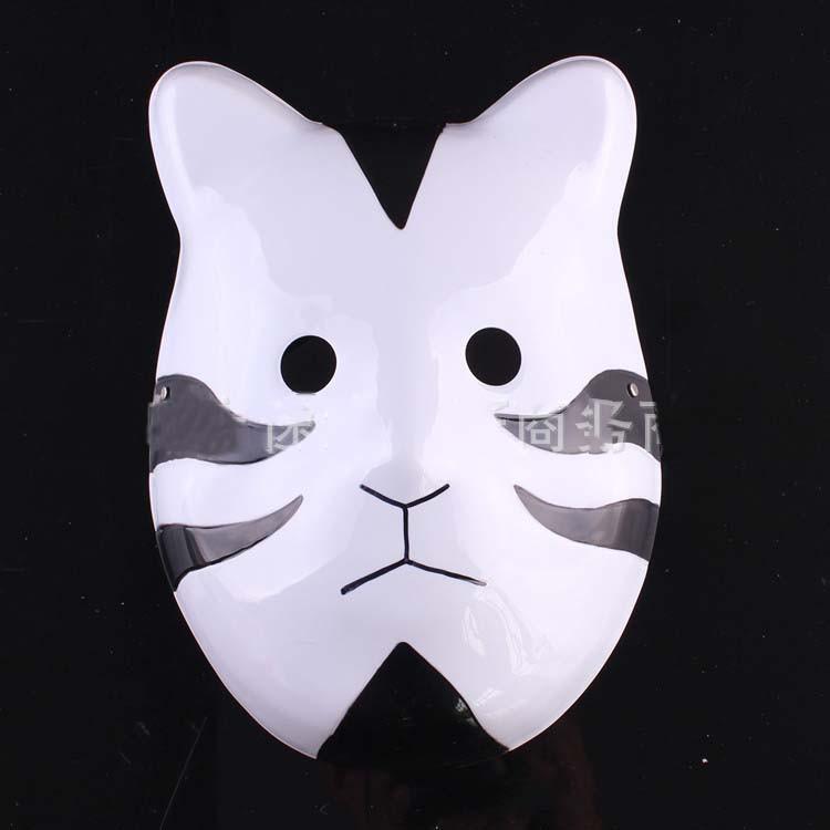 Naruto Hatake Kakashi Anbu Japanese Fox Mask Animal Hand-Painted Cartoon Face Mask Demon Kitsune Cosplay Masquerade Carnival (13)