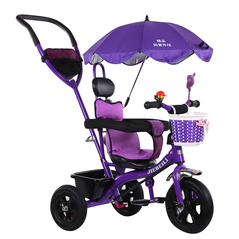 Фотография Free Shipping  Children Tricycle Trolley Bicycle with Sunshade Tricycle for 0-6 Years Old Baby Stroller 5 Color