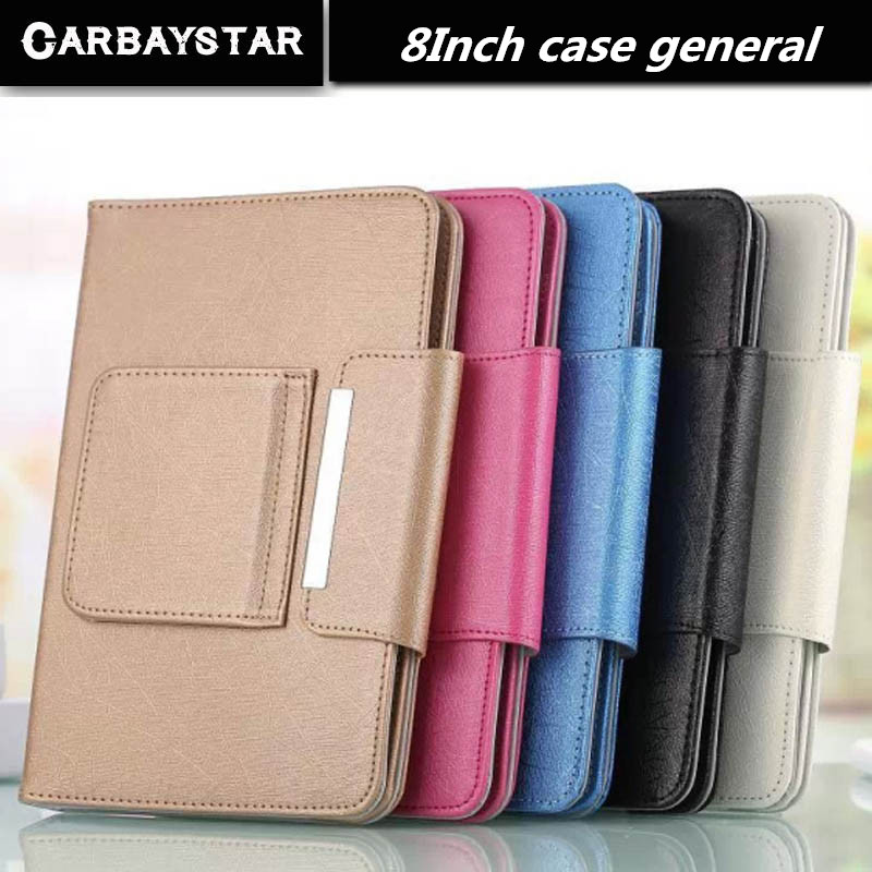 CARBAYSTAR Hot Selling Super Deal Universal High quality PU Leather Stand Cover Case For 8 Inch Tablet PC general cover 5 Color(China (Mainland))
