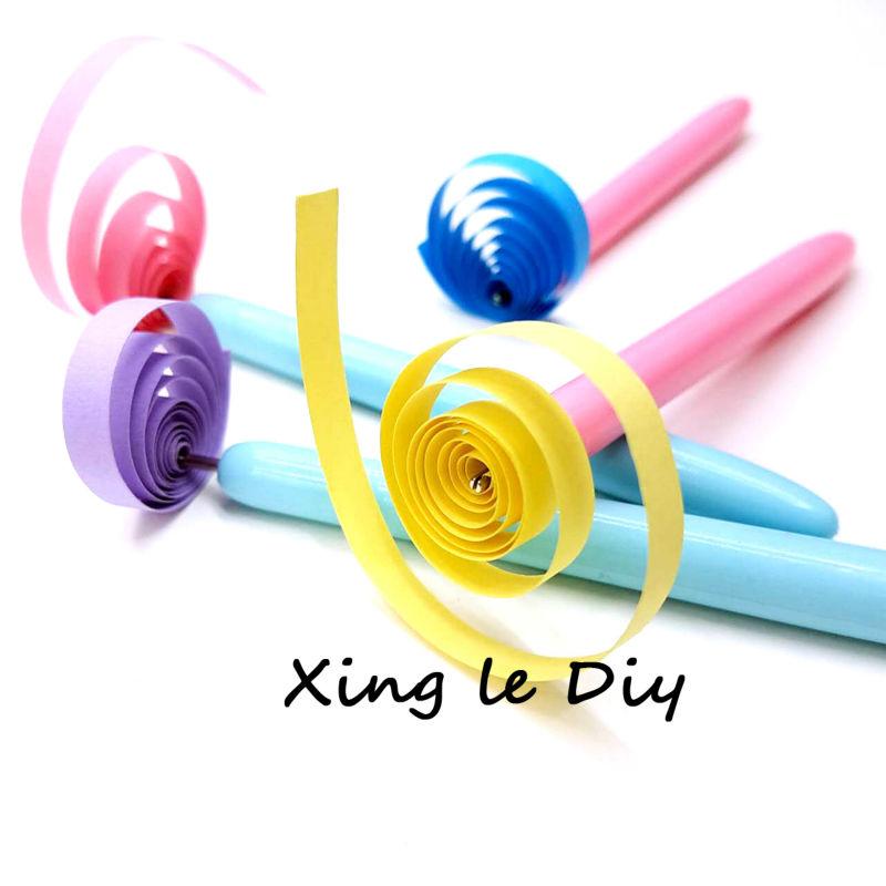 10pcs Paper Craft Tool Quilling Paper Pen DIY Assorted Color Origami Scrapbooking Slotted Paper Quilling Tools Random Color