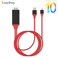 New 2M 1080P AirPlay Mirror Adapter 8 Pin Lightning to HDMI HDTV AV Cable Adapter For