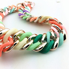 Colorful Resin Bib Choker Statement Necklace Elegant Fashion Jewelry Necklace 2015 New Women Accessories Necklaces Pendants