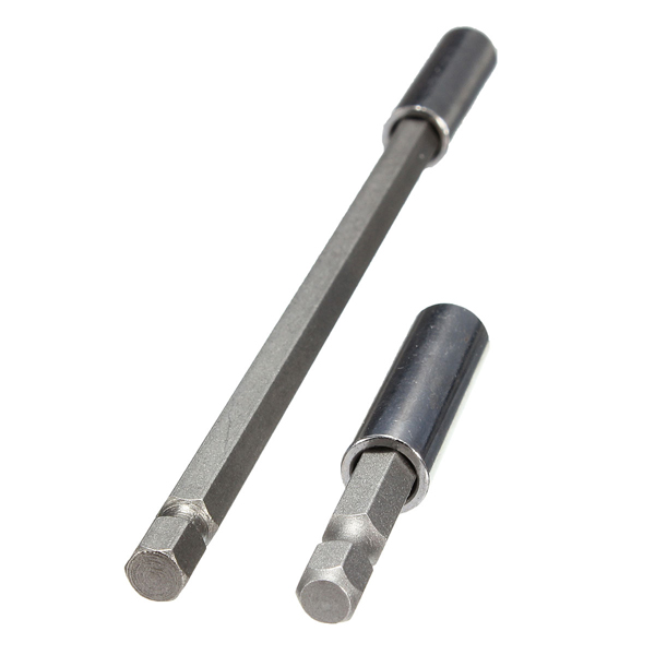 Excellent Quality 2pcs 1 4 Magnetic Bits Holder Screwdriver Extension Bars Drill Holder 60 150mm