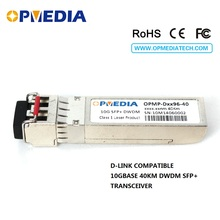Low price D-Link 10GBASE-DWDM SFP+ transceiver, 10G 40KM C-BAND 1563.86nm~1528.77nm ER optical module,with dual LC abd DDM - Opmedia Transceivers store