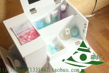 Multifunctional solid wood dressing table  jewelry cabinet tape mirror dresser cosmetic cabinet mirrored vanity table