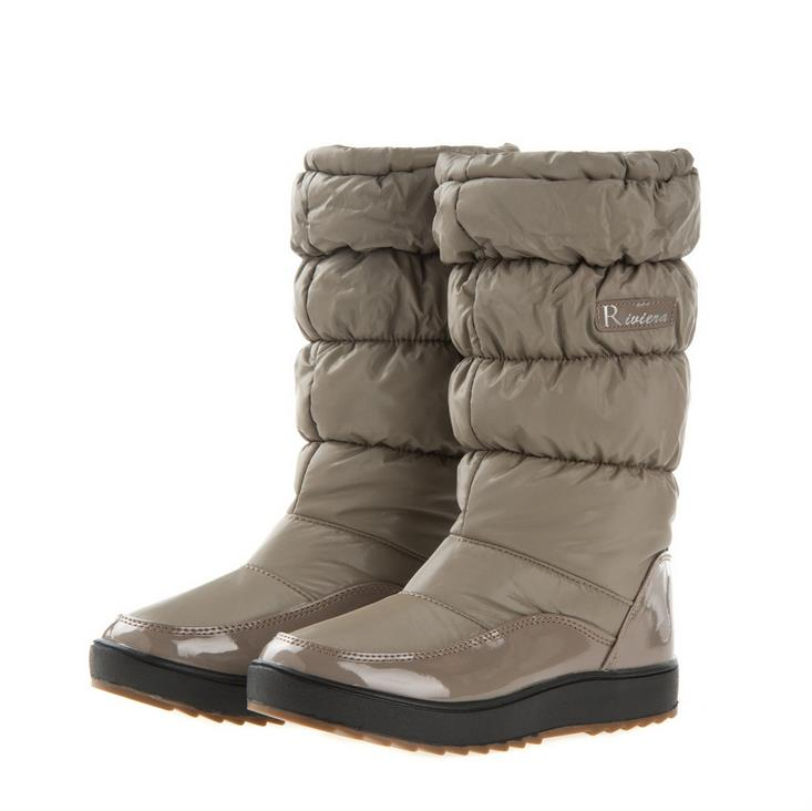 Фотография 2015 winter snow boots  high quality leather waterproof snow boots women