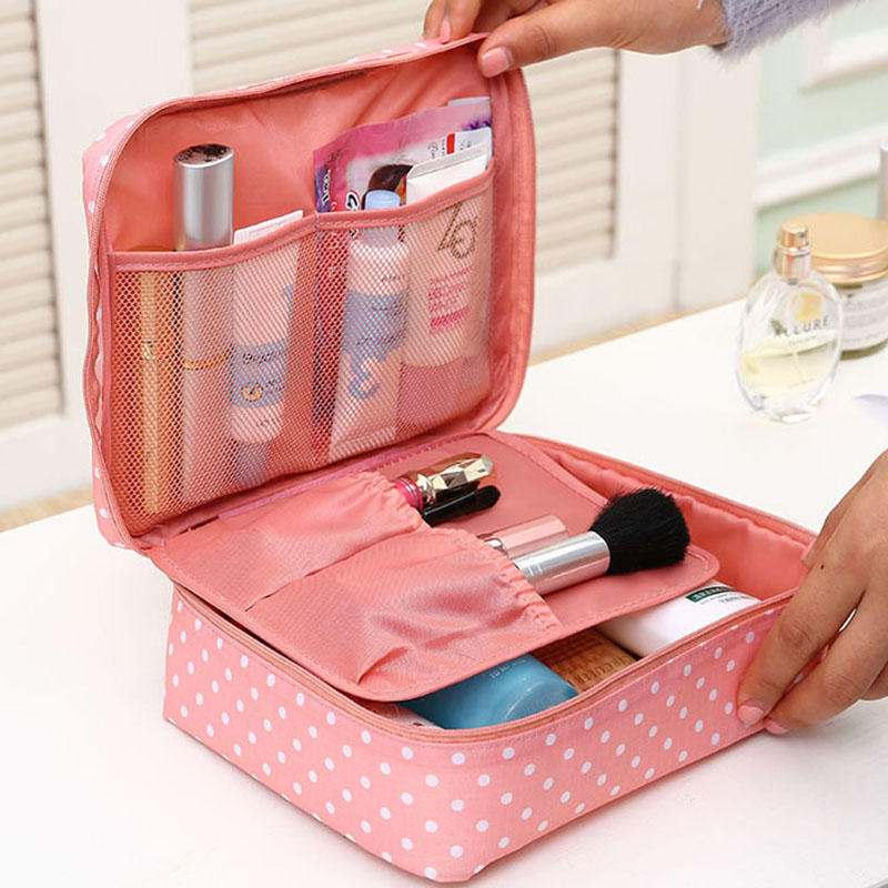 Portable Toiletry Cosmetic Bag Waterproof Makeup Make Up Wash Organizer Storage Pouch Travel Kit Bag Hand Brand Large-capacity(China (Mainland))