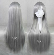 Free Shipping Cosplay Sakagami Tomoyo Beautiful Heat Resistant Synthetic Long dark gray Wig