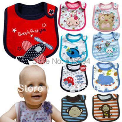 Free Ship Wholesale Three Layers Baby Cotton Bibs, Waterproof Pinny Money Dog Lions Pattern Pinafore For Infants,Branded Carter(China (Mainland))