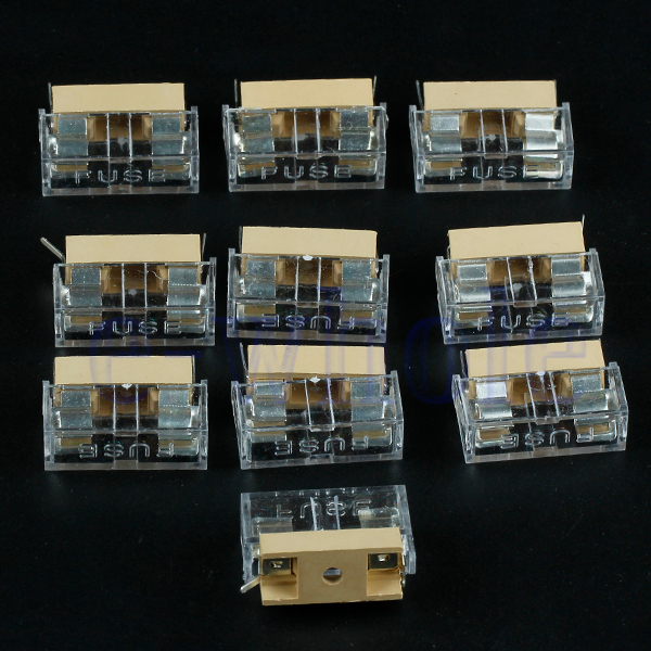 Fuse Holder Panel Mount Suppliers : Pcs panel mount pcb fuse holder case w cover mm