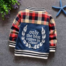 Baby Infants Boys Denim Jeans Printed Cardigans Jacket Coats Outwear Tops Roupa Casaco MT292
