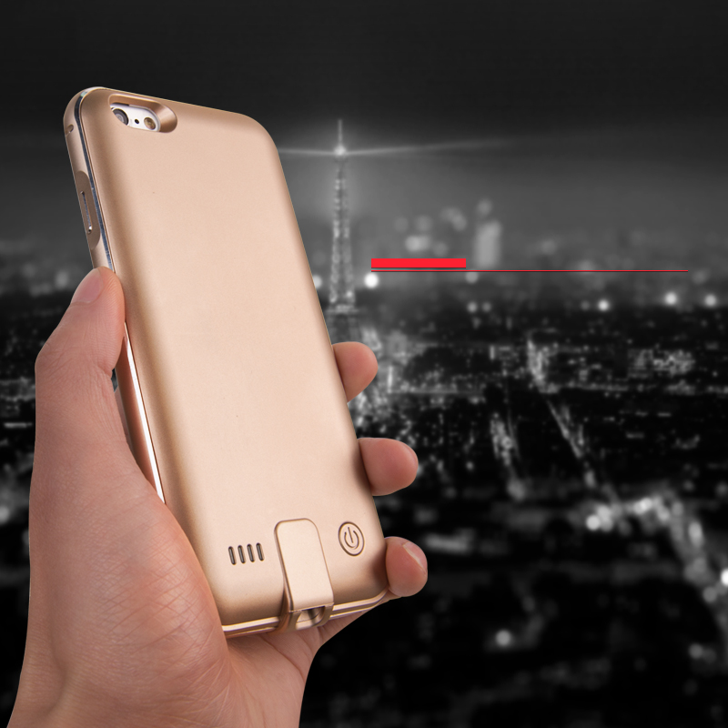 GOESTIME Metal Bumper Battery case for iPhone 6 6s Charger Cover Case Power Bank Case for iPhone 6s Backup Battery Cover Bumper(China (Mainland))