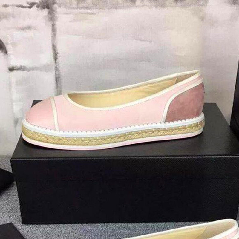 2016 Spring Silk Upper Slip On Flat Shoes Brand Designer Fashion Hemp Rope Heel Comfortable Pregnant Woman Loafers espadrilles