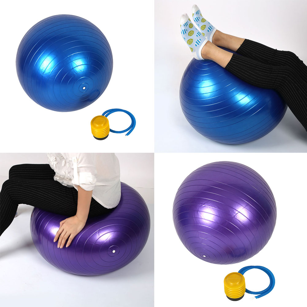 65CM Yoga Swiss Ball Gym Fitness Indoor Sports Anti Burst with Foot Pump(China (Mainland))