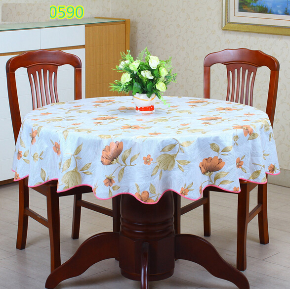 2016New PVC Plastic Thickened Round Tablecloths Waterproof Oilproof No Clean Tablecover Pastoral Style(China (Mainland))