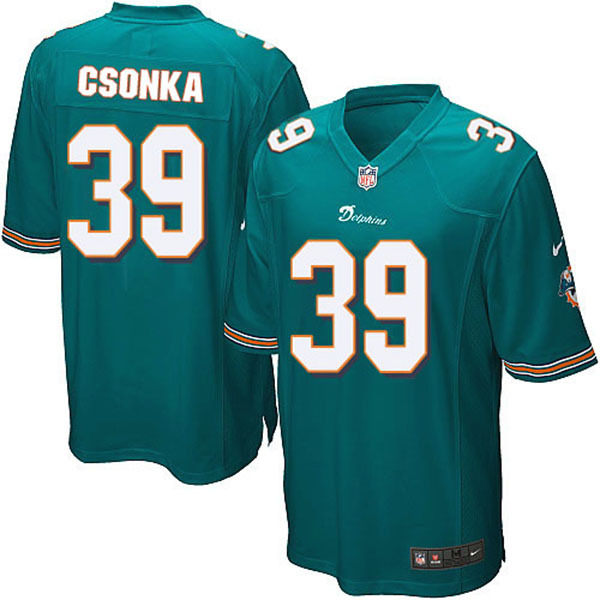 100% Stitiched,Miami Dolphins,Dan Marino,Larry Csonka,Throwback for men(China (Mainland))