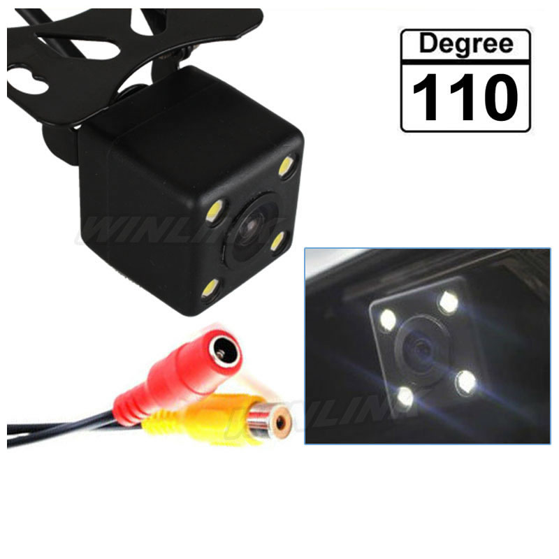 110 Degree Universal Waterproof HD CCD 4 LED Night Vision Car Rear View Camera Parking Assistance(China (Mainland))