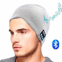 2016 New Soft Warm Beanie Gorro Hat Wireless Bluetooth Smart Cap Headset Headphone Speaker Mic Bluetooth Hat Men Sports Hat