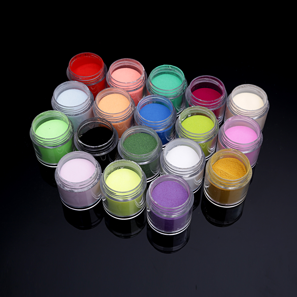 18pcs/Set Professional Glitter Colourful Carving Pattern Sculpture Acrylic Powder Nail Art Kit Decorate Tools(China (Mainland))