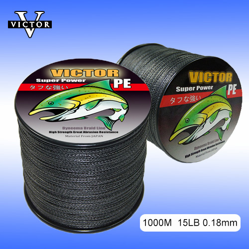FREE SHIPPING 1000M 0.18mm 4 Strand Spectra Black Super Power PE Floating 0.1-1.2# Mainline Braided Fishing Line 8-100Lbs<br><br>Aliexpress