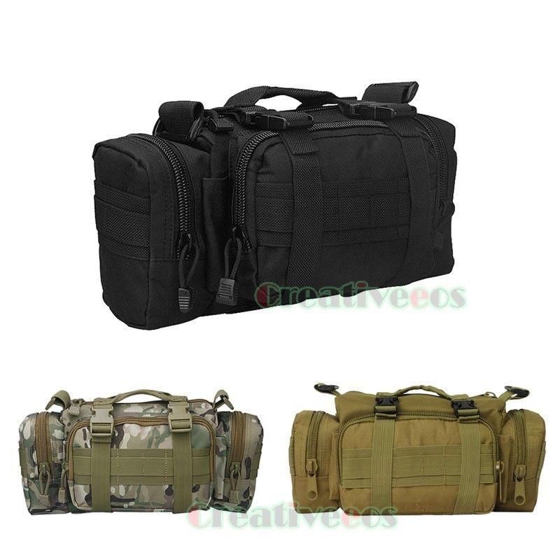 Mens Nylon 3P Outdoor Military Tactical Travel Hiking Motorcycle Messenger Shoulder Belt Hip Bum Fanny Pack Waist Handbag Bag<br><br>Aliexpress
