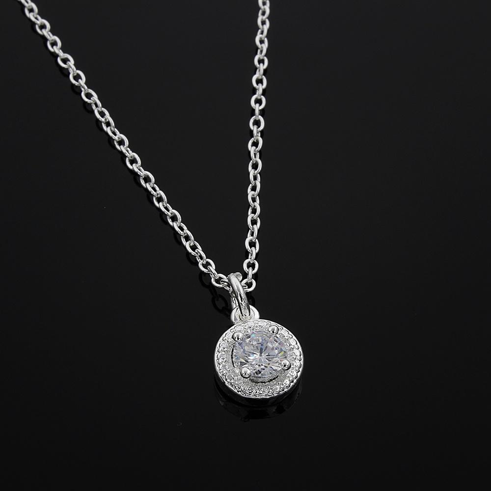 Diamond Necklace Wedding Gift : CZ diamond pendant necklace fashion jewelry wedding / engagement gift ...
