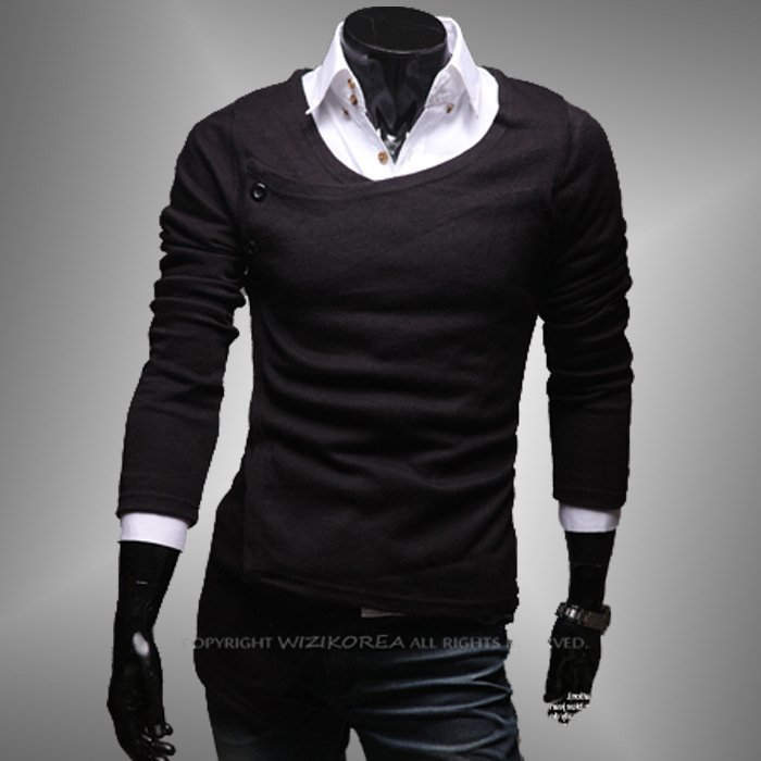 fashion man' sweater, hot selling cotton sweater, casual sweater in stock, good quality low price and free china post shipping(China (Mainland))