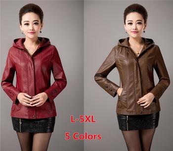Осень зима женщины полиуретан кожа куртка верхняя одежда приталенный овчина кожа ...
