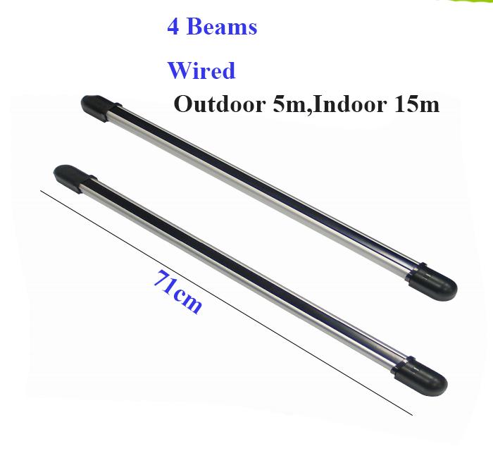 (Outdoor 10m,Indoor 30m)  ce infrared beam motion detector 4 beam 66cm with metal waterproof case<br><br>Aliexpress
