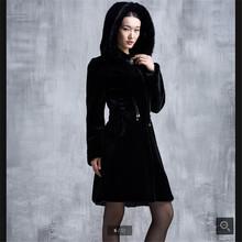 High-grade Imitated mink wool Fur Coat Big yards Winter clothes Latest Medium long Outdoor High quality Imitated mink Coat BN056(China (Mainland))