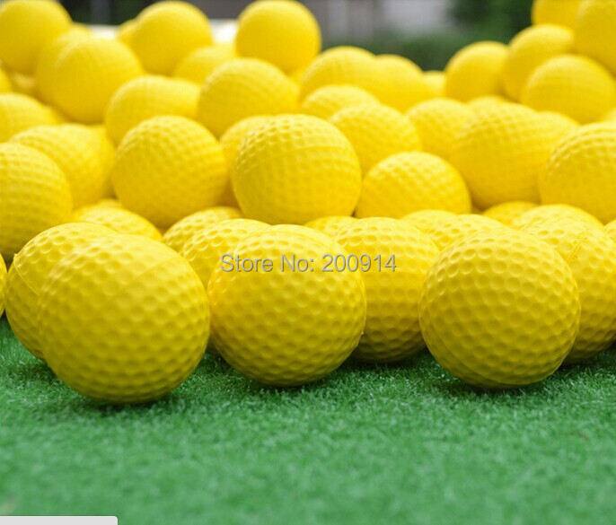 36 pcs/lot double range golf ball-yellow color new practice golf balls gift golf ball decoration golf ball(China (Mainland))