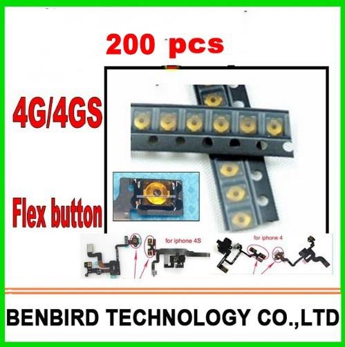 200pc original micro Spring piece Terminal For iPhone 4S 4 sleep button Power Light sensor headphone audio Jack Flex Cable B1109