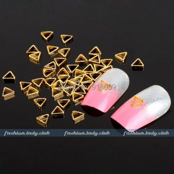 / Nails Supplier, 104mm Metal Gold Triangle 3D DIY Acrylic Nail Art Care,UV Gel Polish Manicure Tool - Hill Chow's store