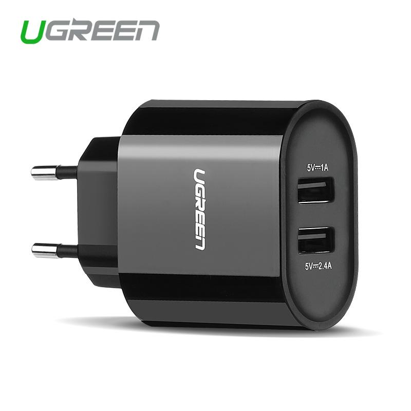 Ugreen 5V3.4A Universal Travel USB Charger Adapter Wall Portable EU UK Plug Mobile Phone Smart Charger for iPhone Tablet(China (Mainland))