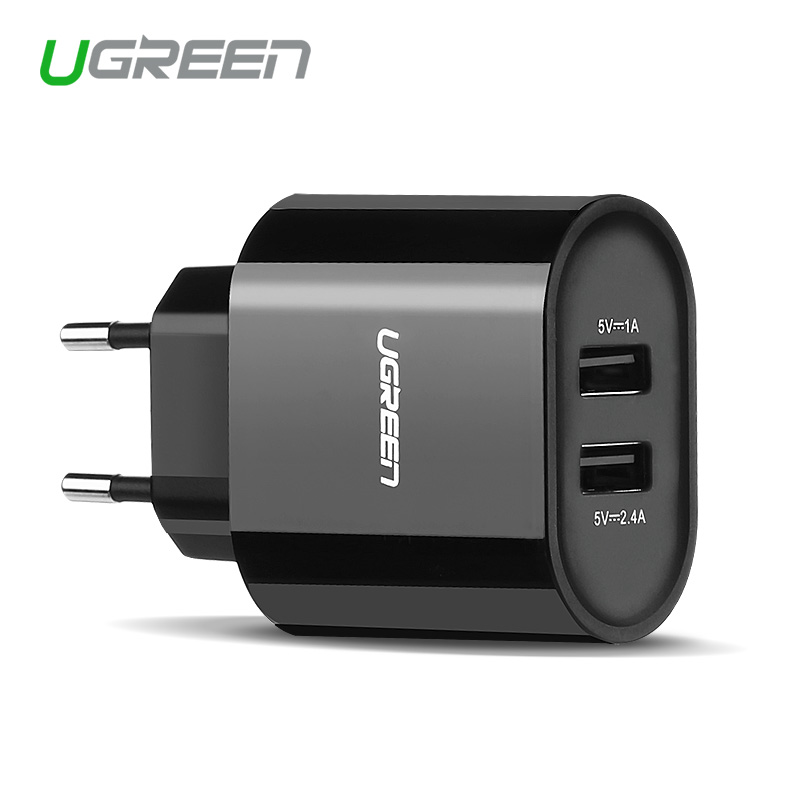 Ugreen 5V3.4A Universal Travel USB Charger Adapter Wall Portable EU UK Plug Mobile Phone Smart Charger for iPhone Tablet(China (Mainland))