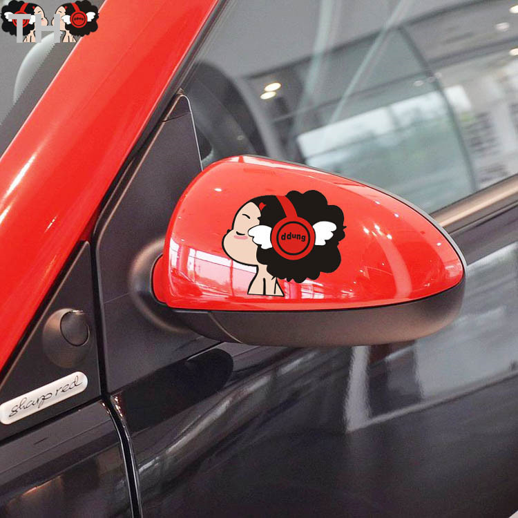 "One pair of two cute ""baby songs"" sticker car styling Mazda cx 5 Opel Astra Volvo All new models(China (Mainland))"