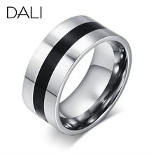 DALI Fashion Men's Titanium Steel Finger Rings Men's Party Jewelry Wedding Engagement Rings WTR59(China (Mainland))