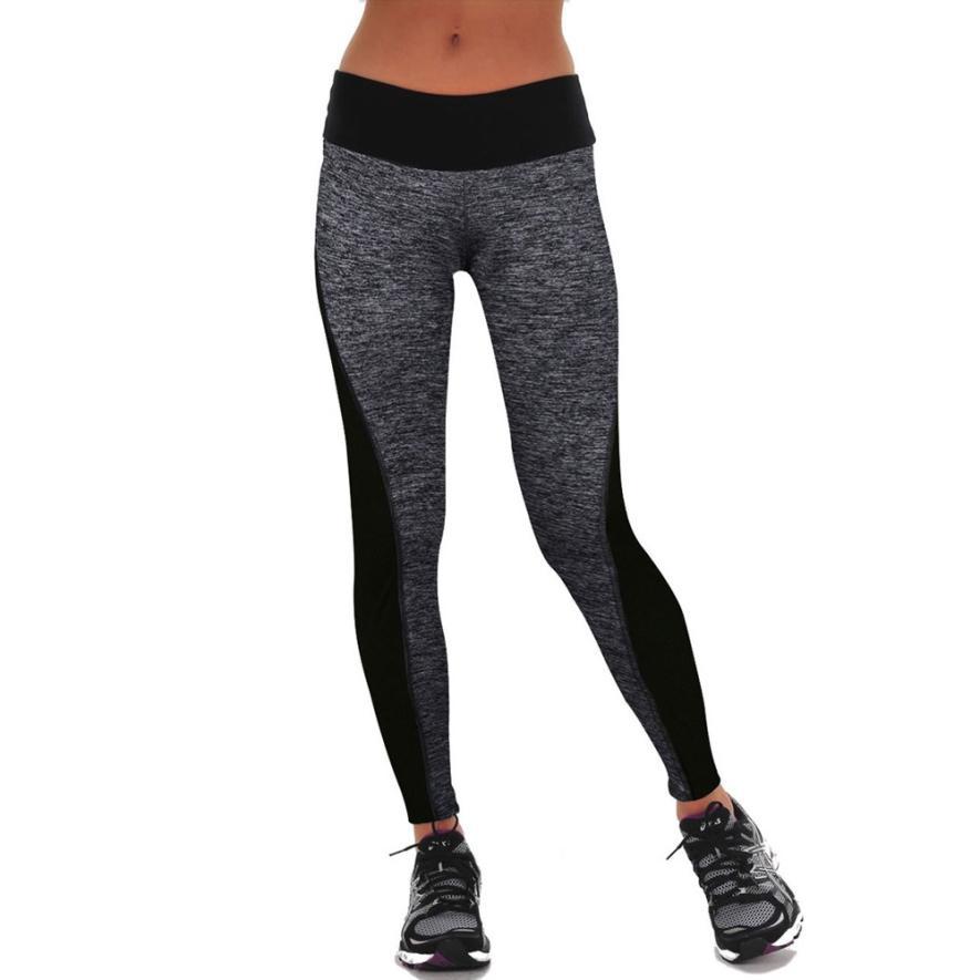 JECKSION Women Workout Trousers 2016 Hot Sale Athletic Fitness Yoga Leggings Pants Patchwork High Waist LeggingsОдежда и ак�е��уары<br><br><br>Aliexpress