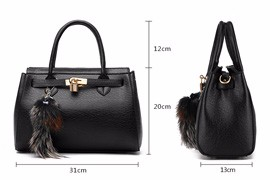 2016 New Occident Style Luxury Designer Handbag Elegant Belt Lock Ornament Women Fashion Classy PU Leather Shoulder Bag