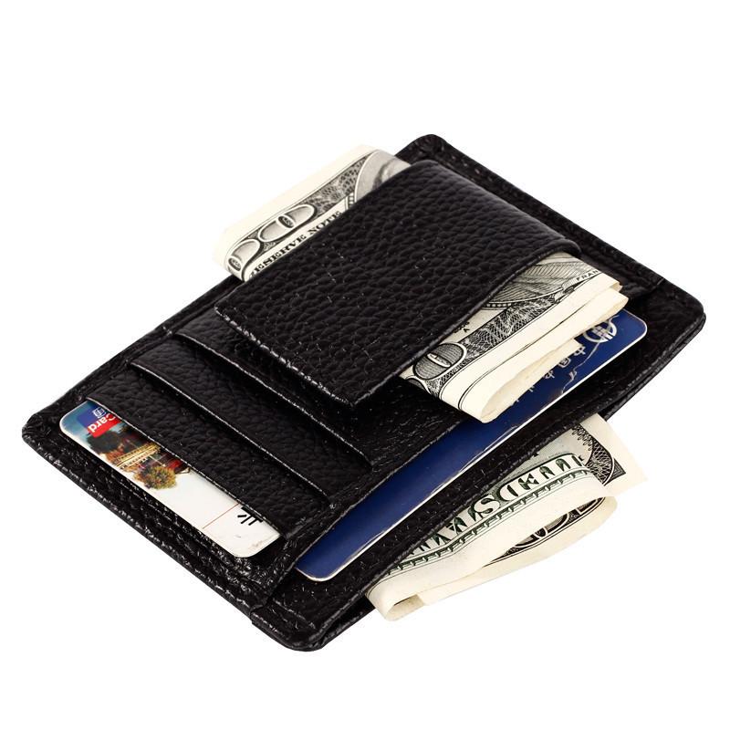 1pc Genuine Leather Men Business Card Holder  Famous Brand Cash Wallet Designer Wallets For Men-- BID017 PM49<br><br>Aliexpress